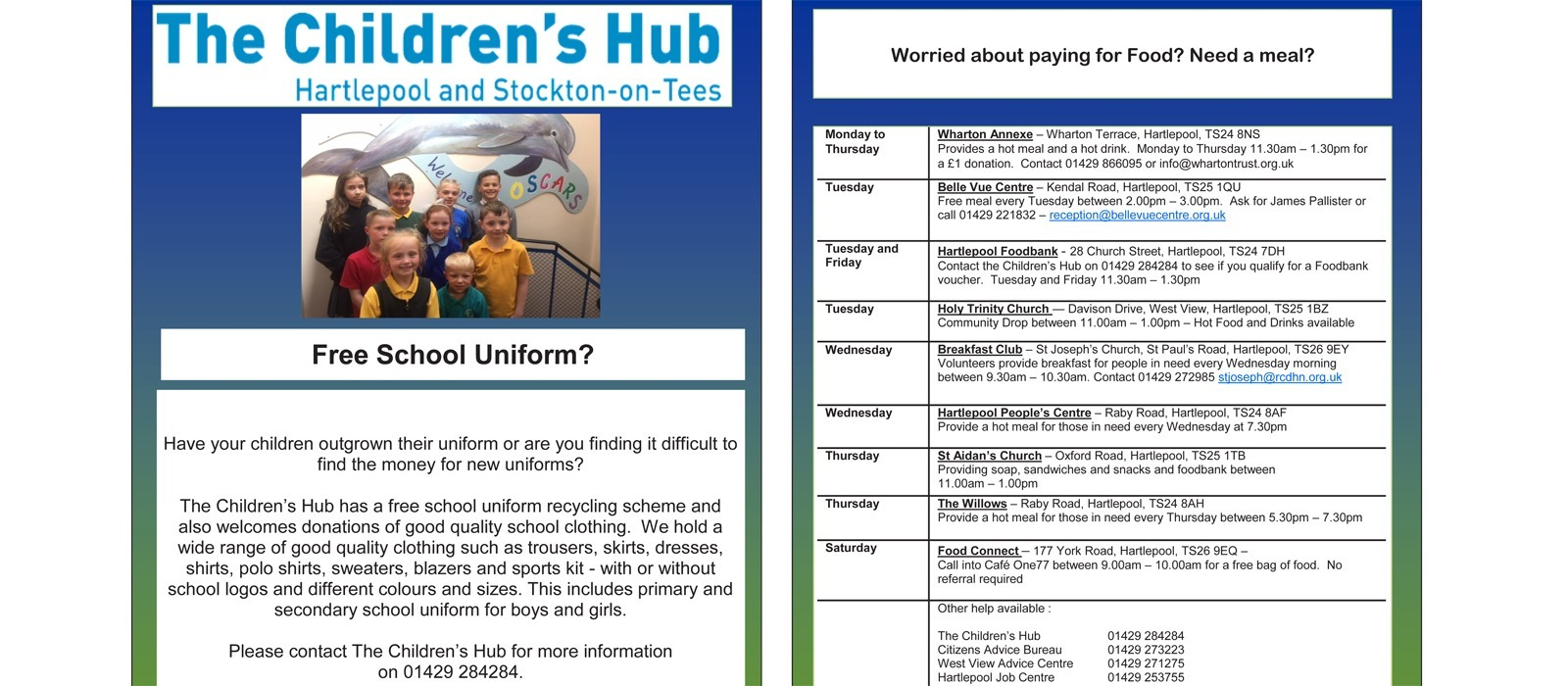 Supporting image for The Children's Hub - Uniform Recycling + Help and Support