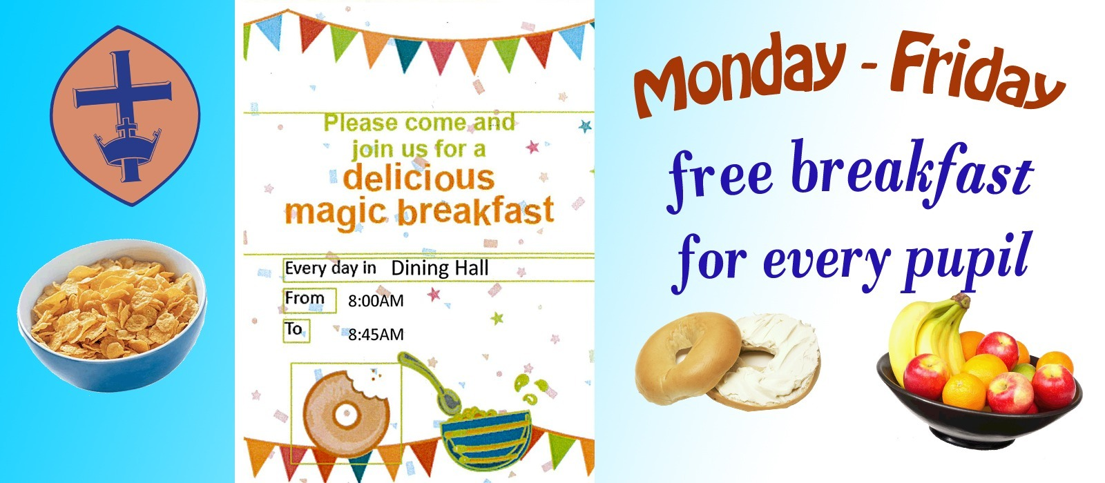 Supporting image for Free Breakfast for Pupils