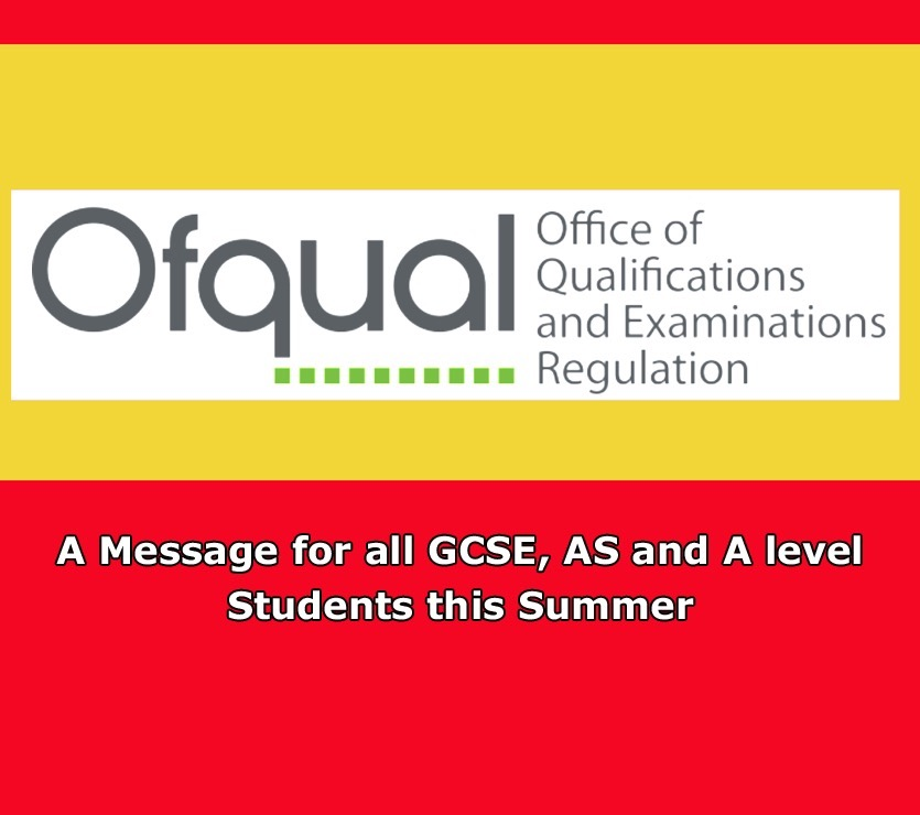 Image for A message from Ofqual for all GCSE students this summer