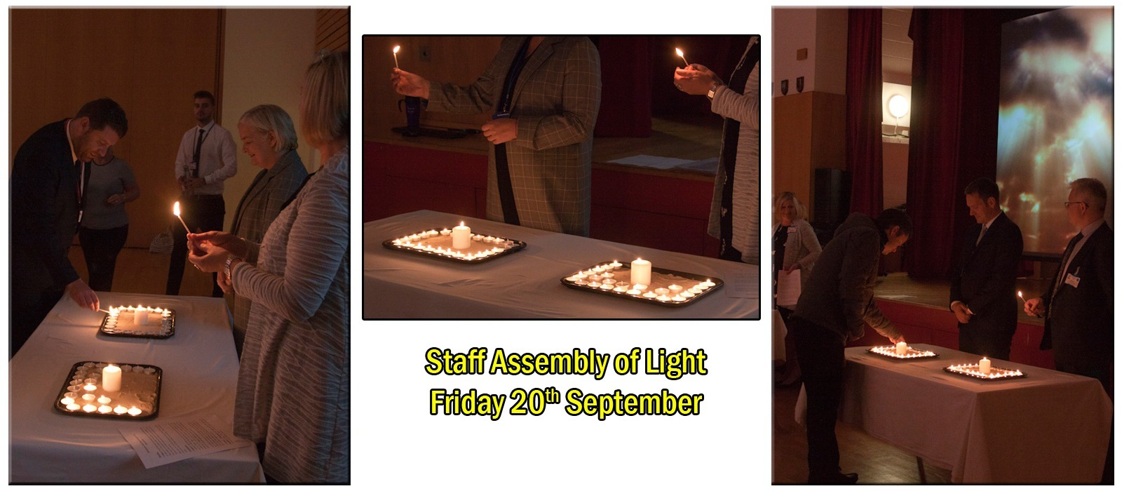 Supporting image for Staff have their own 'Assembly of Light'.