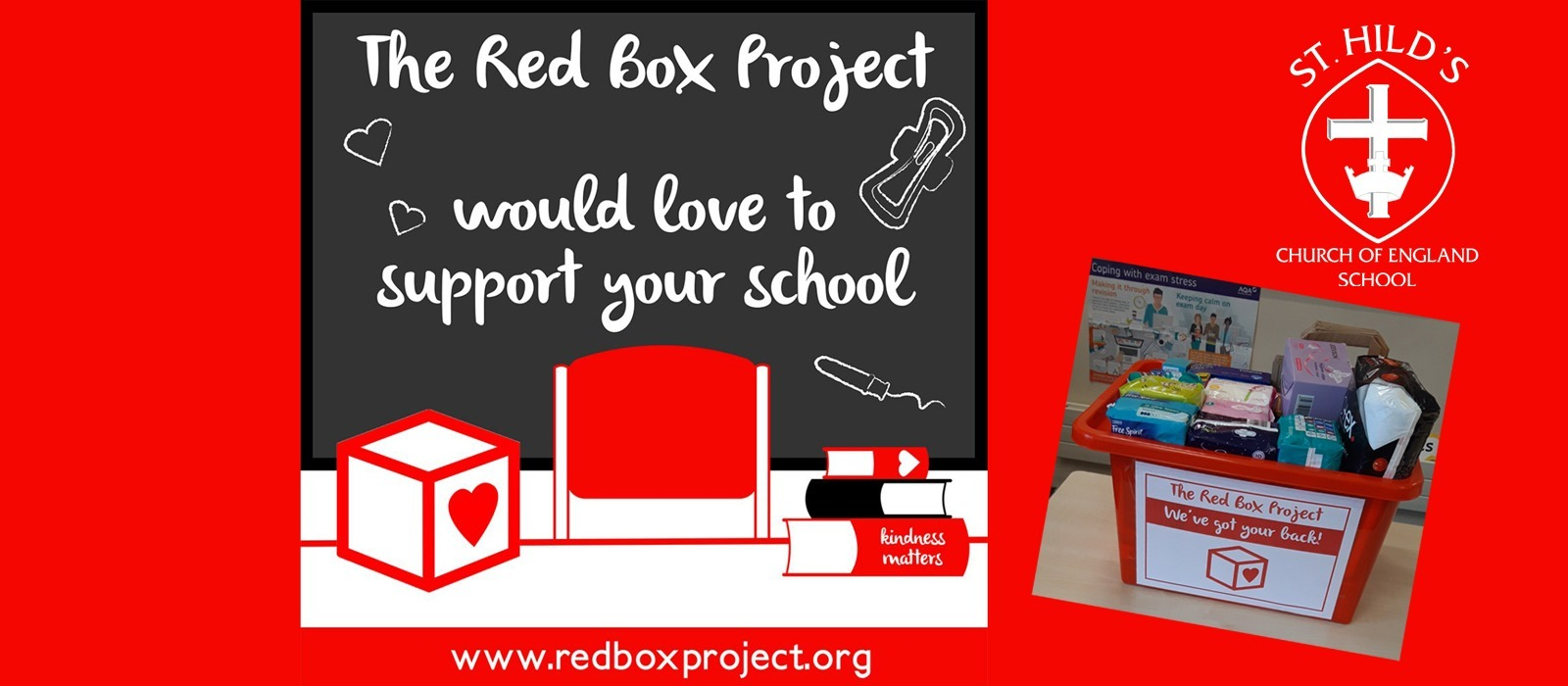 Supporting image for St. Hild's School Joins the Red Box Project