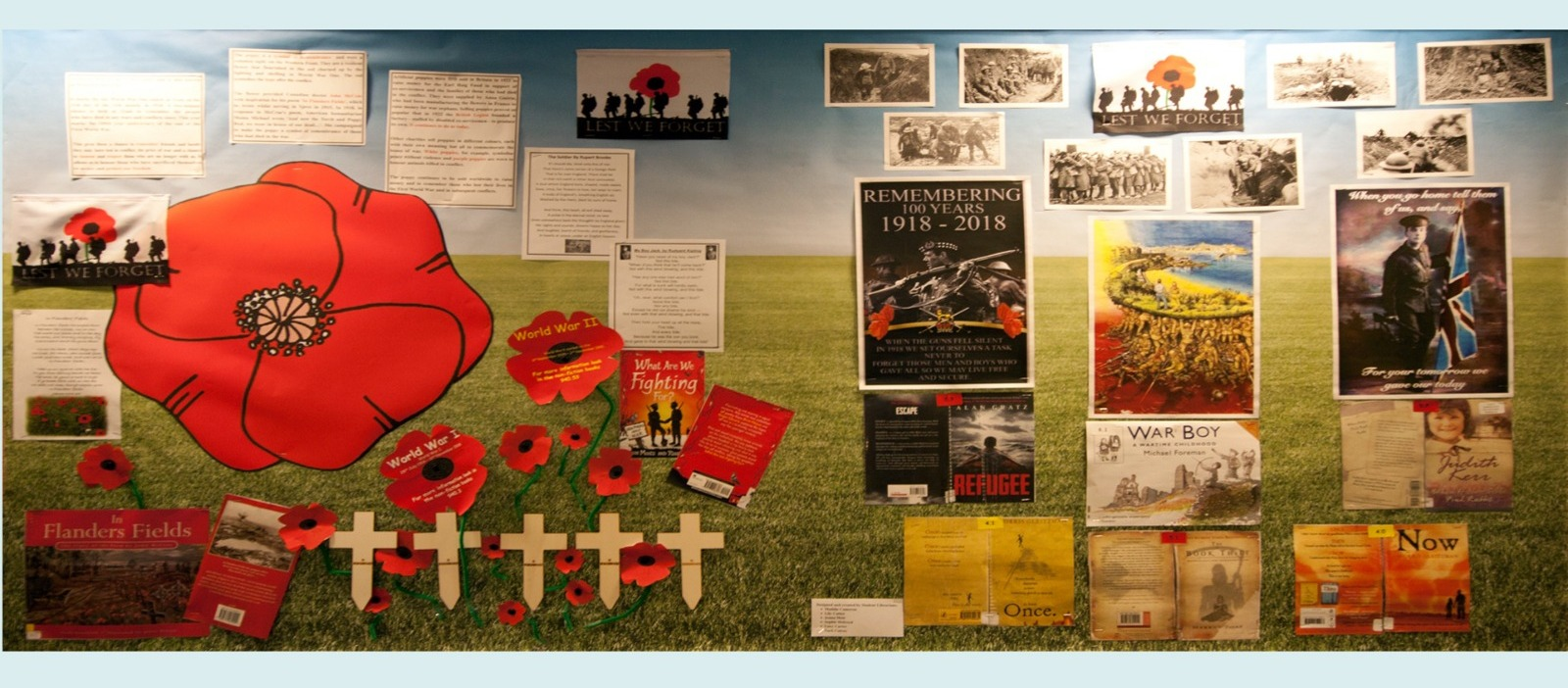 Supporting image for Remembrance Corridor Display 2018